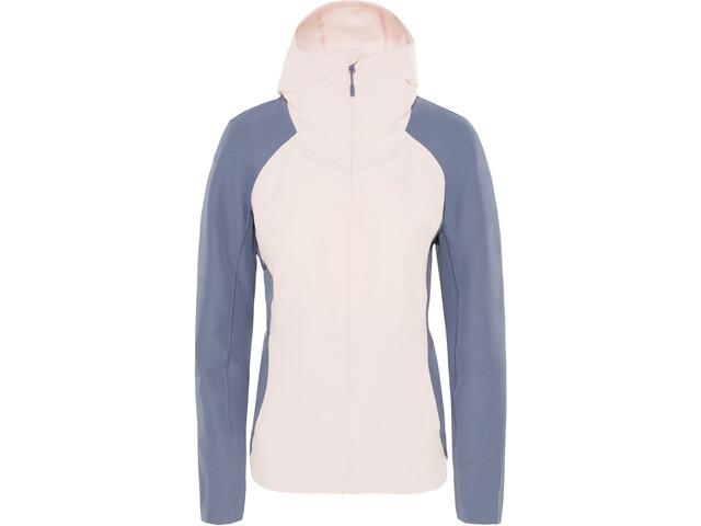 The North Face Invene Veste Softshell Femme, pink salt/grisaille grey
